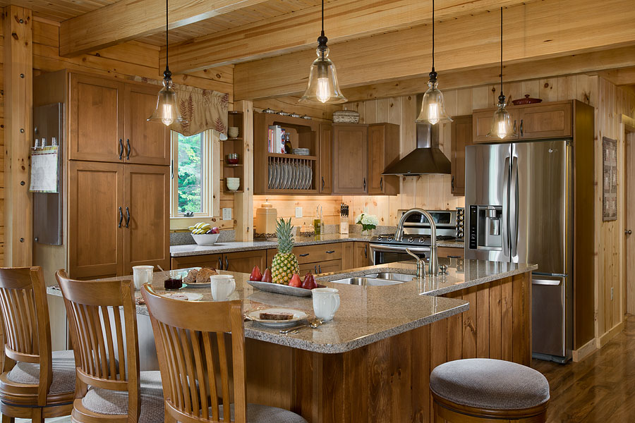 Coventry Log Homes Kitchens