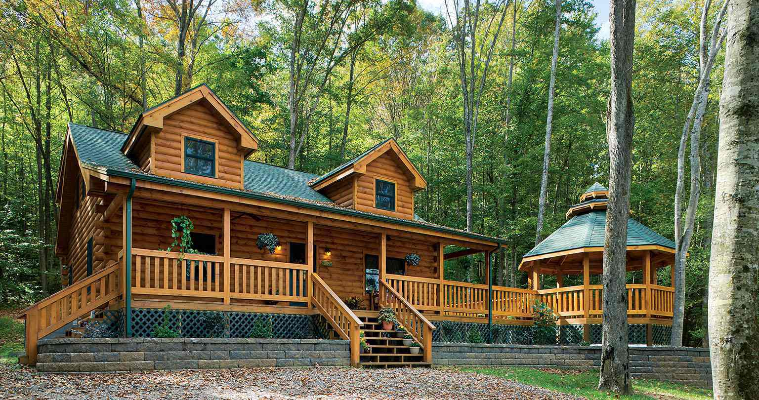 Clearwater Log Home Exterior