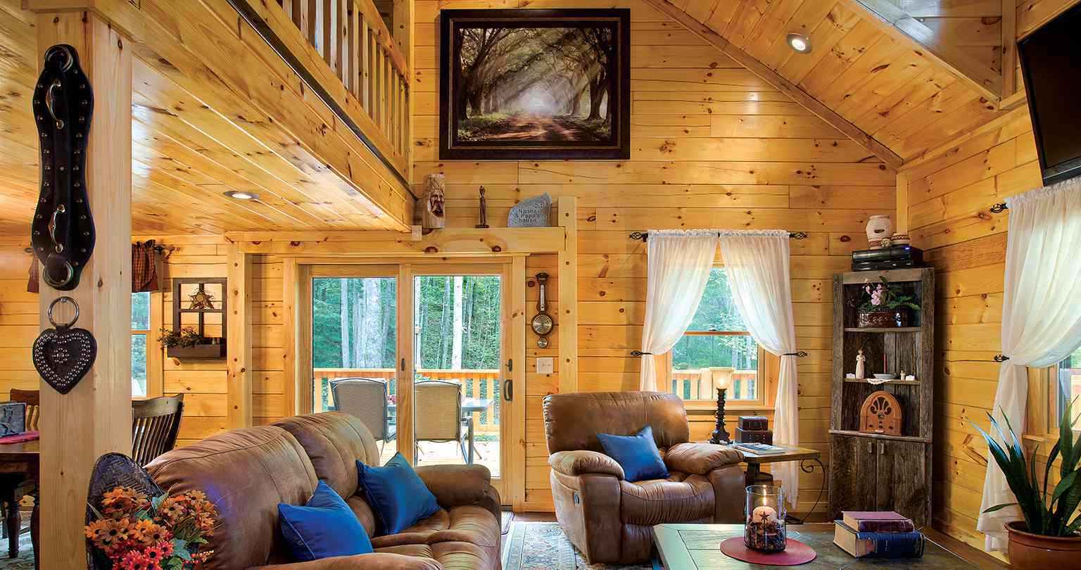 Clearwater Log Home Great Room