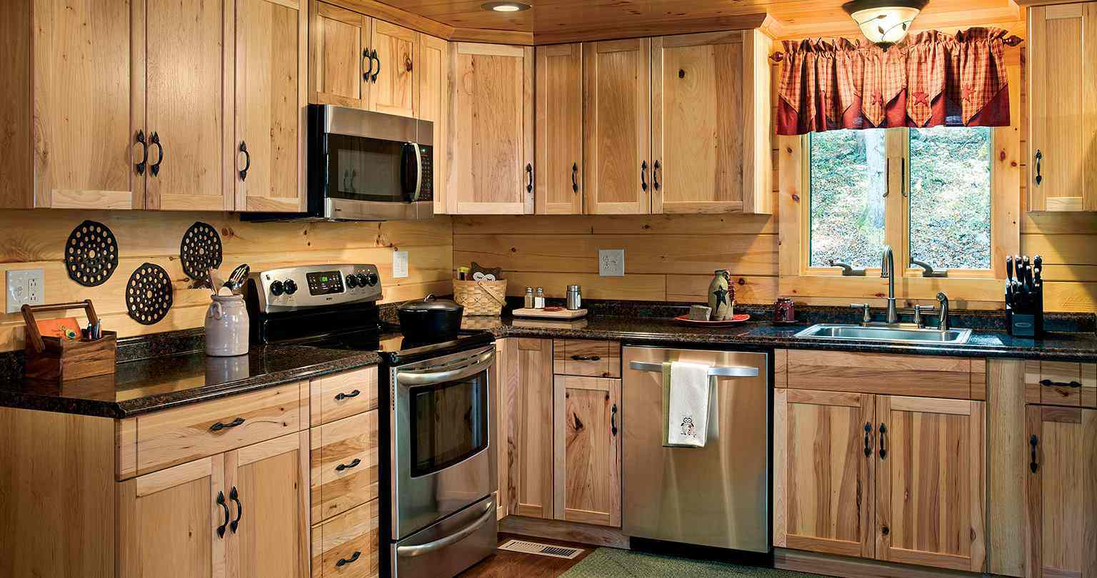Clearwater Log Home Kitchen