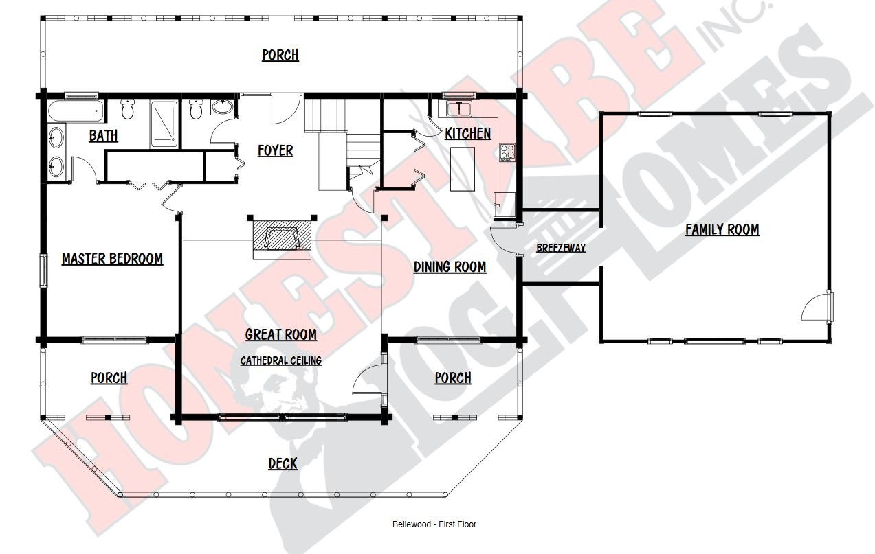 Honest Abe Bellewood First Floor Floor Plan