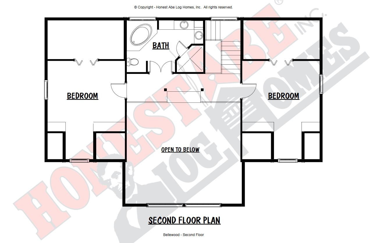 Honest Abe Bellewood Second Floor Floor Plan