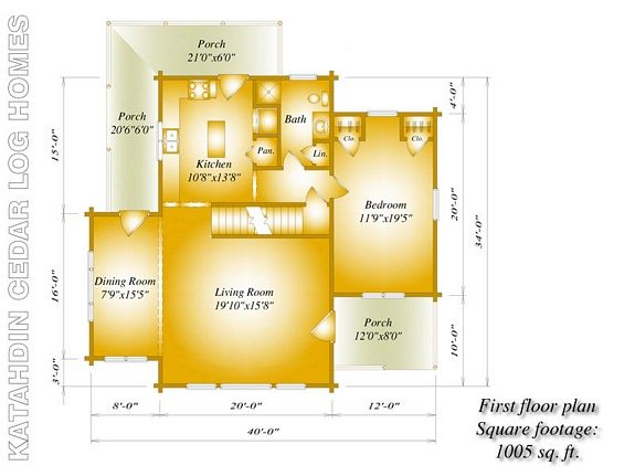 Katahdin Sebec First Floor Floor Plan