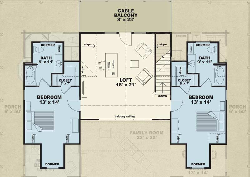 Mountain Laurel Second Floor Floor Plan